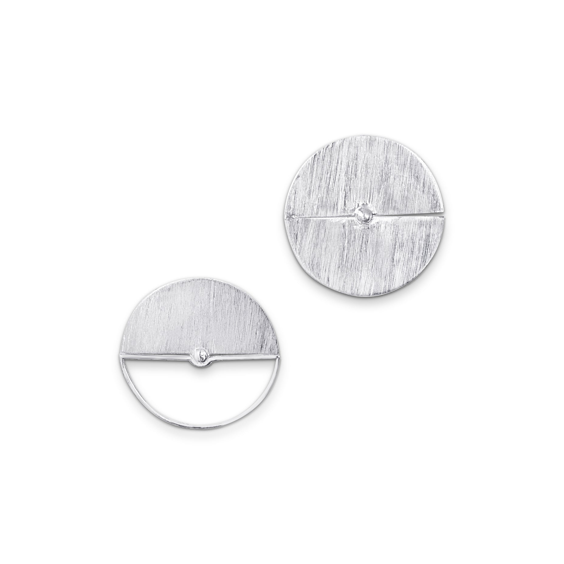 Full Moon and Half Moon Earrings-JY GAO