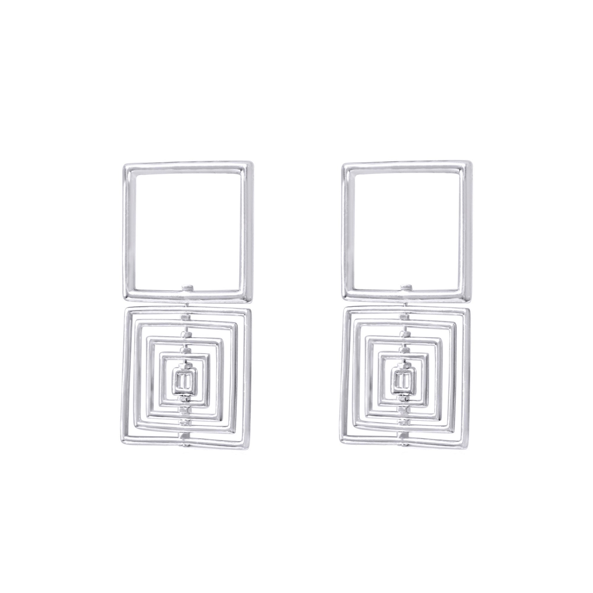 Mini Square to Cube Earrings