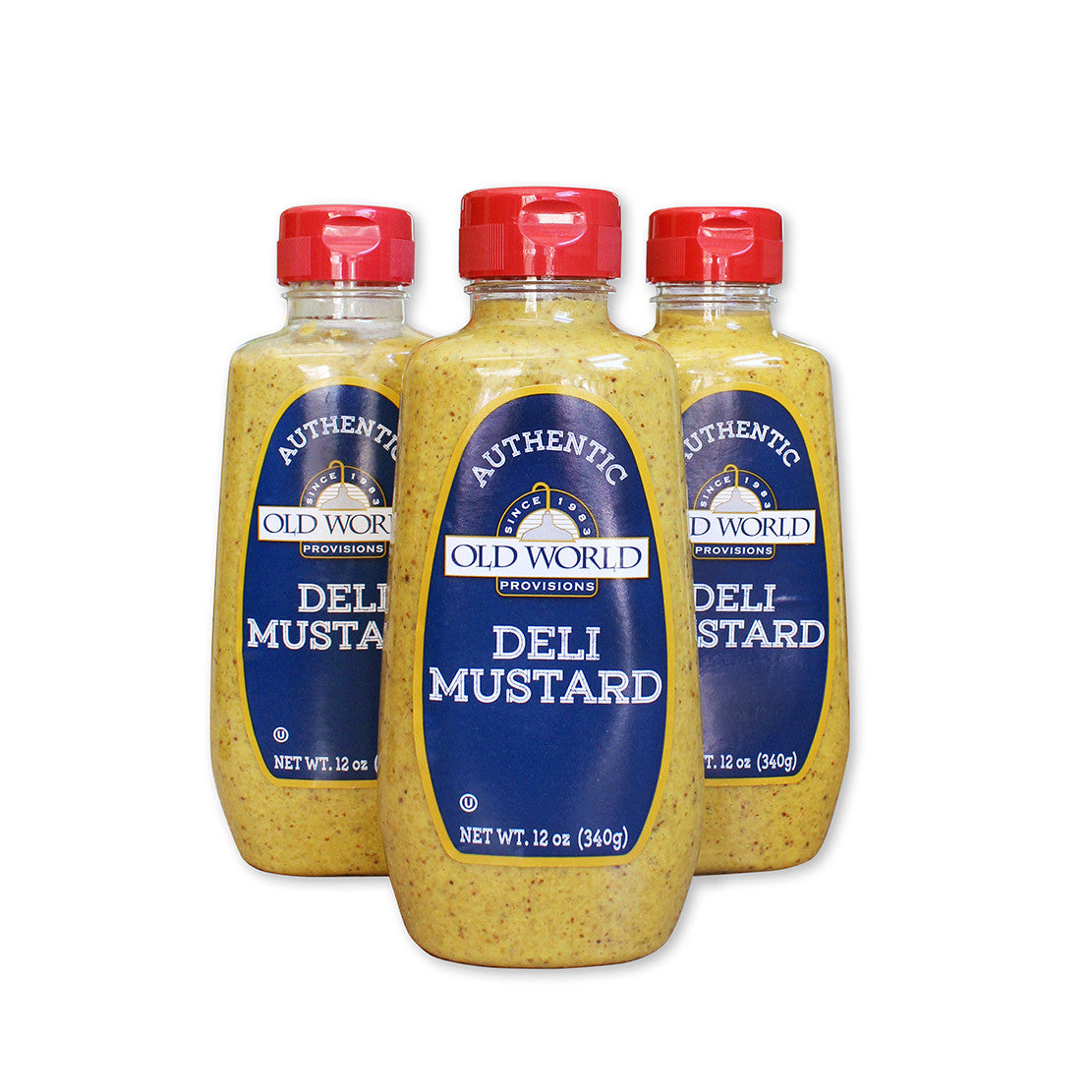Old World Provisions Authentic Deli Mustard is the real New York Deli style spicy brown mustard.