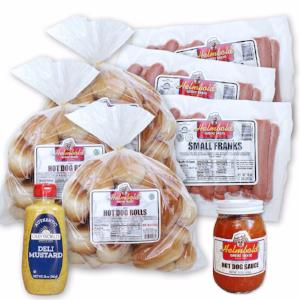 Our most popular hot dog kit offers the essentials for the ultimate Troy hot dog eating experience.