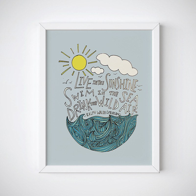 Sunshine + Sea Nautical Wall Art - Instant Download