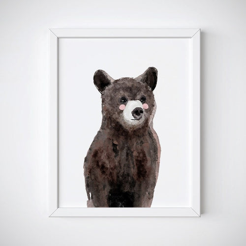 Baby Bear Animal Wall Art - Instant Download