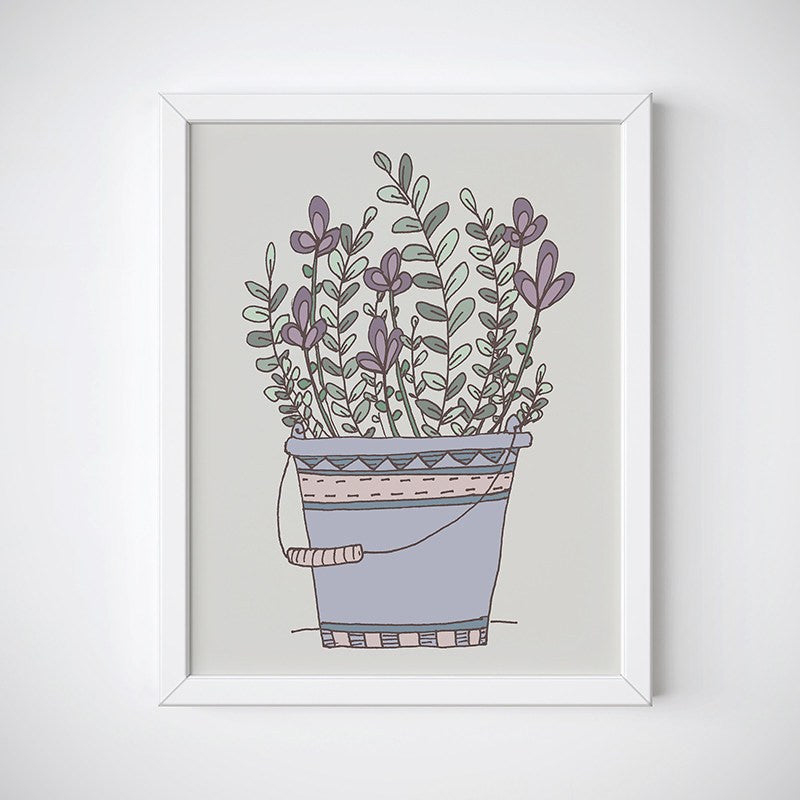 Bucket Blooms Floral Wall Art