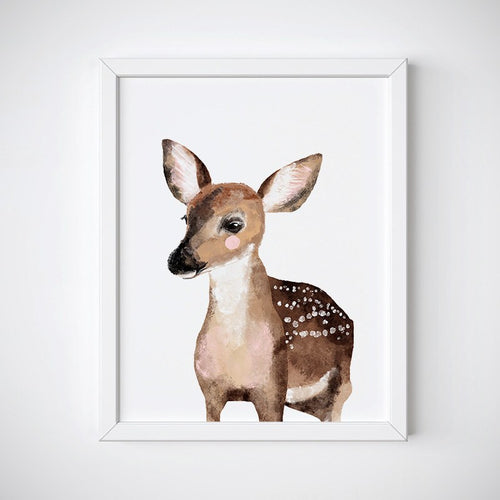 Baby Deer Animal Wall Art - Instant Download