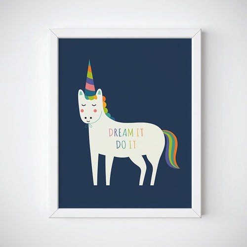 Dream It, Do It Unicorn Wall Art