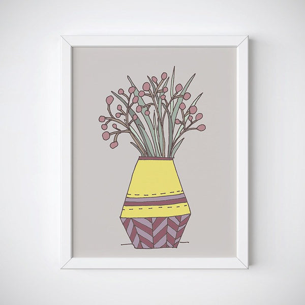 Plum Blooms Floral Wall Art
