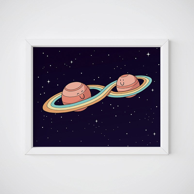 Together Forever Planets Wall Art