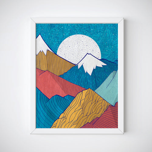 The Crosshatch Sky Wall Art