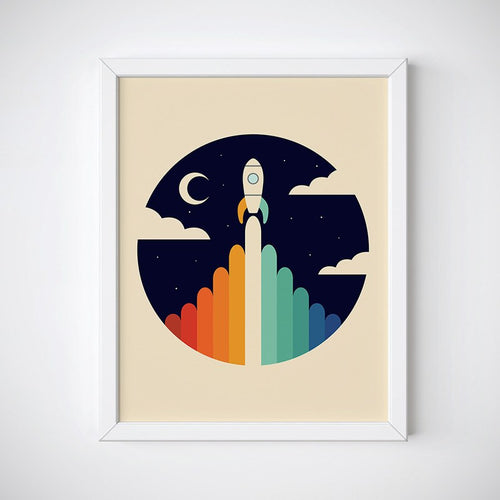 Up Rocket Wall Art
