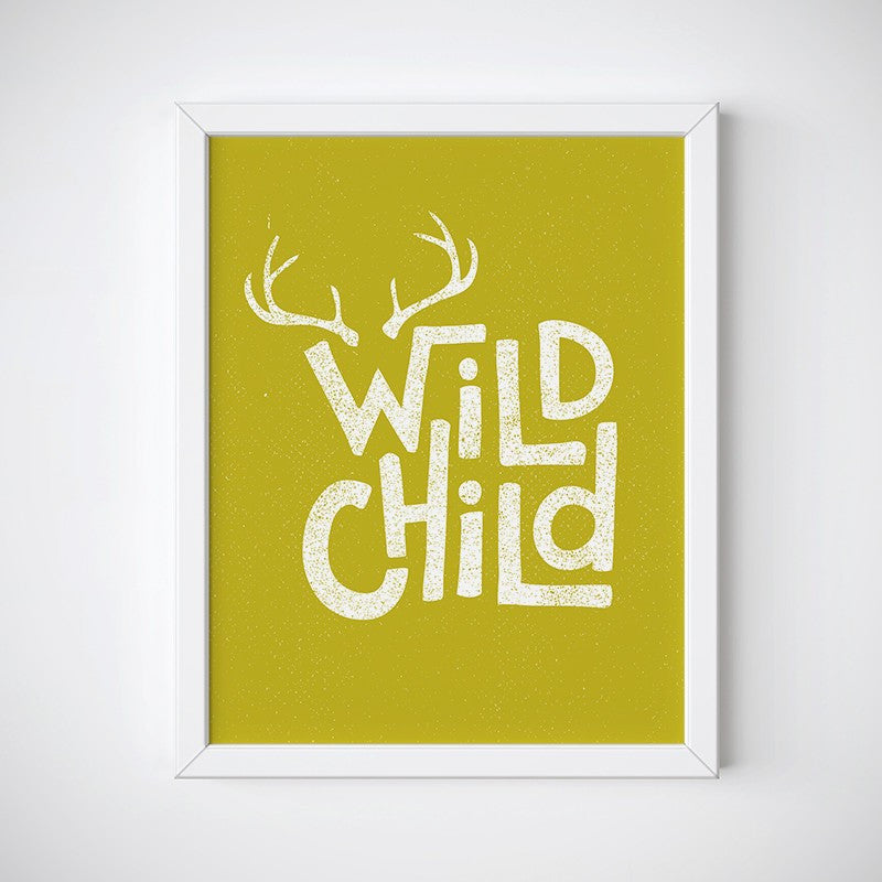 Wild Child Wall Art - Instant Download