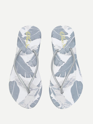 Tropical Print Flip Flops - Whispering Winds by The OutCo.