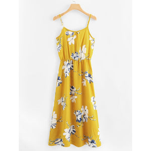 Floral Print Cami Dress - Whispering Winds by The OutCo.