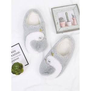 Swan Panel Fluffy Slippers - Whispering Winds by The OutCo.