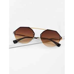 Top Bar Metal Frame Sunglasses - Whispering Winds by The OutCo.