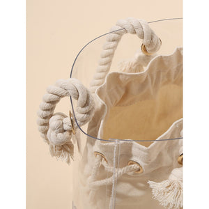 Clear Bucket Bag With Inner Pouch - Whispering Winds by The OutCo.