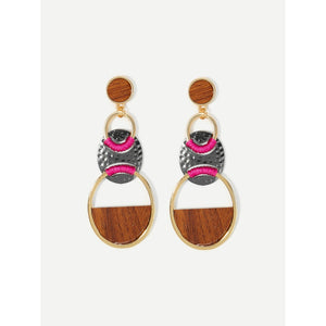Contrast Drop Earrings - Whispering Winds by The OutCo.