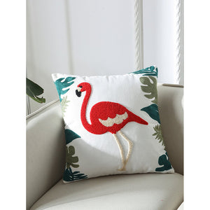 Flamingos & Embriodery Print Pillowcase Cover 1PC - Whispering Winds by The OutCo.
