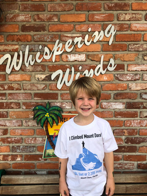 Kid's I Climbed Mount Dora T-Shirts - Whispering Winds by The OutCo.
