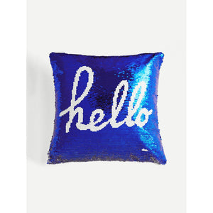 Sequin Letter Pattern Pillow Case Cover - Whispering Winds by The OutCo.