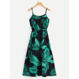 Tropical Print Cami Dress - Whispering Winds by The OutCo.