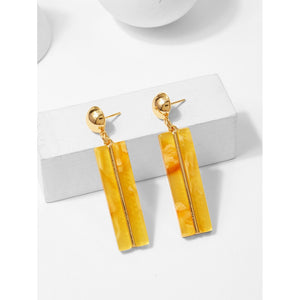 Bar & Ball Design Drop Earrings - Whispering Winds by The OutCo.