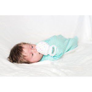 YUMMY MITT® ANTI-SCRATCH MITTENS FOR NEWBORNS 0-3 MONTHS - Whispering Winds by The OutCo.