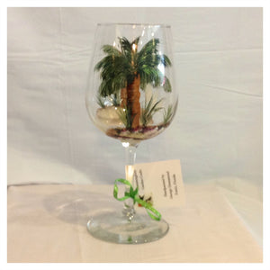 Palm Tree Wine Glass - Whispering Winds by The OutCo.