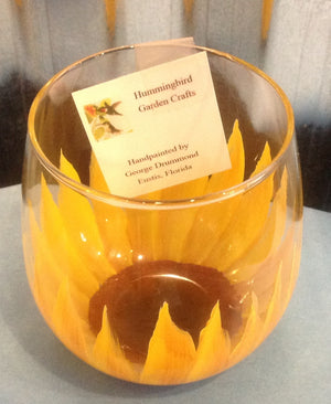 Sunflower Wine Glass - Whispering Winds by The OutCo.