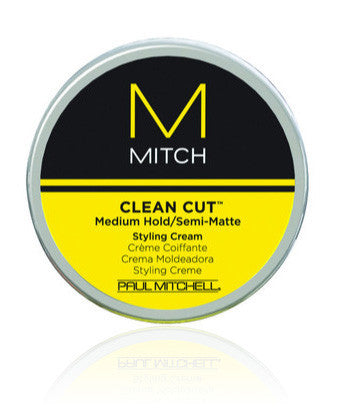 MITCH CLEAN CUT MEDIUM HOLD/SEMI-MATTE STYLING CREAM 3 OZ