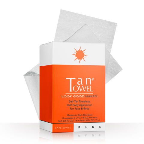 TanTowel Half Body Plus Self-Tan Towelettes - 10 Pack