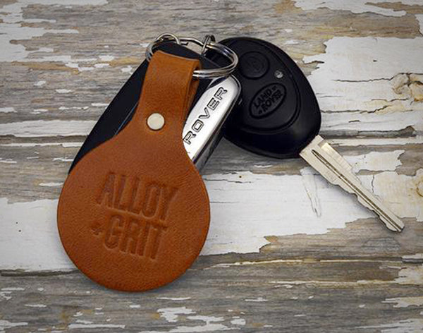 Alloy+Grit Leather Key Fob