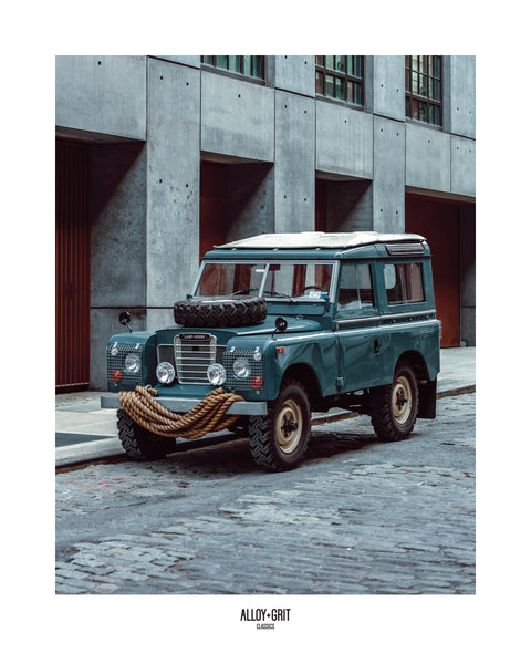 "16""x20"" Poster - Land Rover Series III 88"" in Brooklyn, New York"