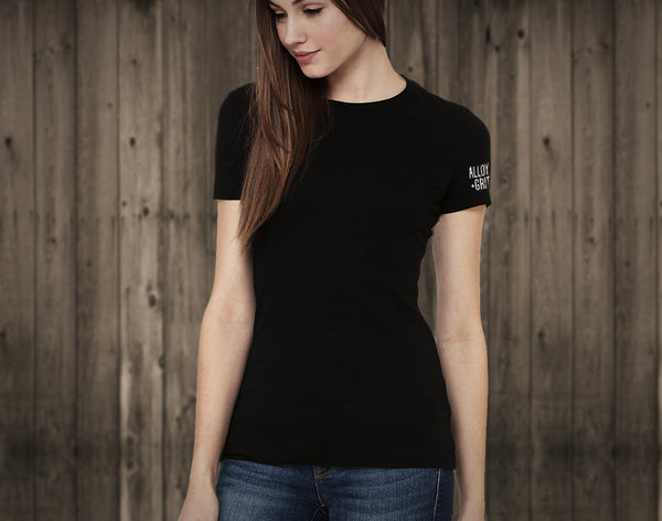 Ladies' Short Sleeve Logo Tee - Black