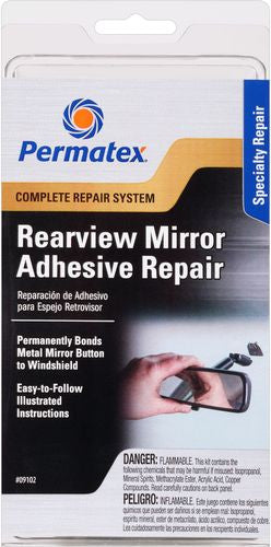PER-09102-PERMATEX REAR VIEW MIRROR REPAIR KIT
