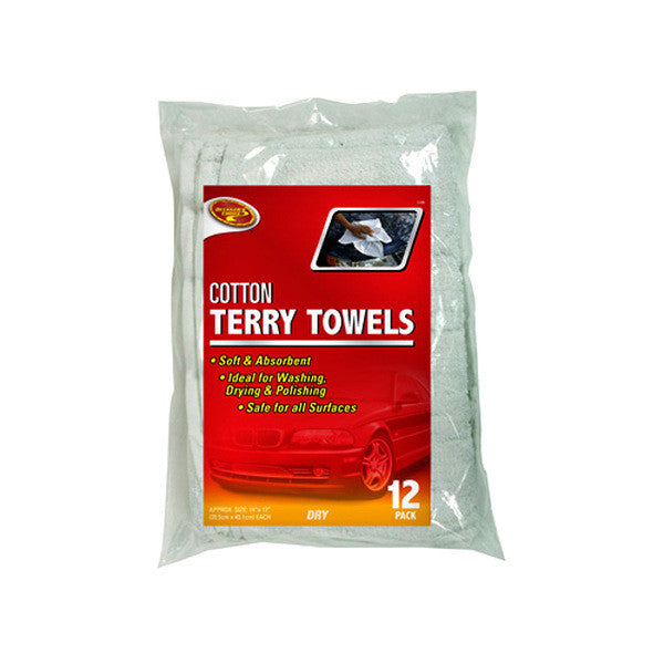 CRP-3-528-CRP 12 PK TERRY TOWELS