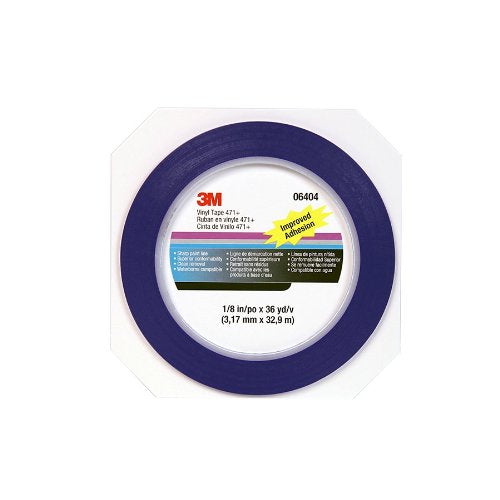 MMM-06404 RL 1/8 IN BLUE FINELINE VINYL TAPE