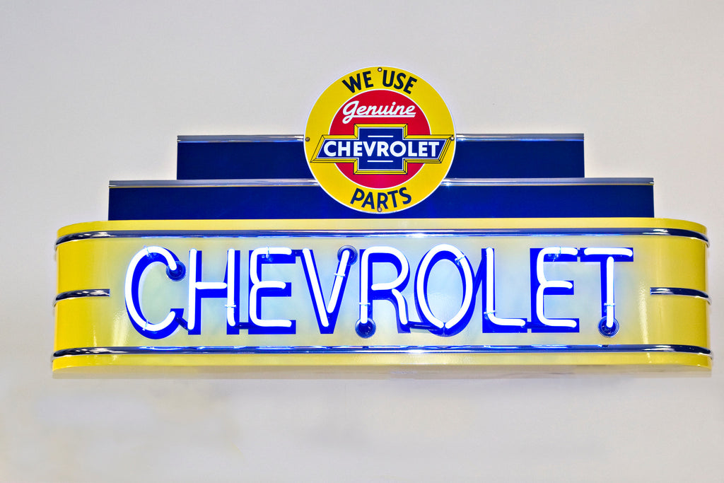 NEO-48CR-YEL-CP-CHEVROLET NEON SIGN - Genuine Chevy Parts