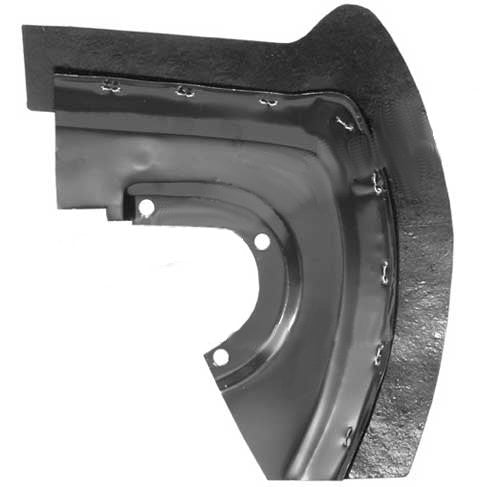 SM-651021R-FRONT FENDER SPLASH SHIELD W/RUBBER RH FRONT 65/66