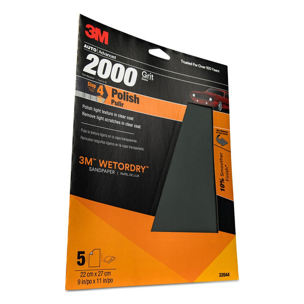 "MMM-32044 3M Imperial Wetordry 9"" x 11"" 2000 Grit Sheet"