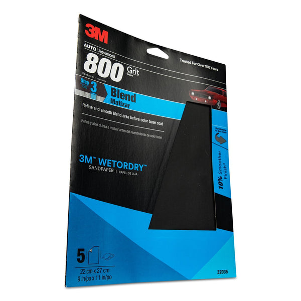 "MMM-32035 3M Imperial Wetordry 9"" x 11"" P800 Grit Sheet"