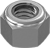 "MCM-95615A160-Medium-Strength Steel Nylon-Insert Locknut Grade 5, Zinc-Plated, 5/16""-18 Thread Size"