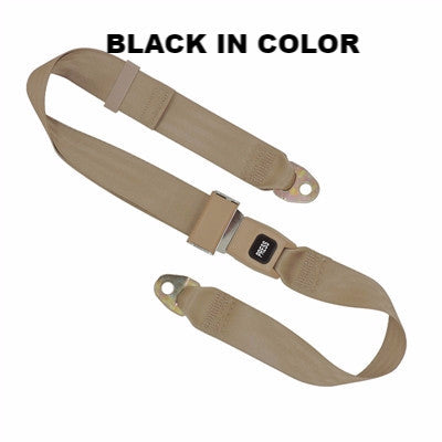 "JHP-JU060101- PLASTIC PUSH LAP BELT 60"" BLACK"