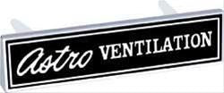 OER-3950046-OER Reproduction Emblems ASTRO VENTILATION
