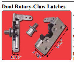 SRS-125-SACHSE DUAL ROTARY BEAR CLAW LATCHES