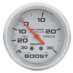 ATM-4603-AutoMeter Pro-Comp Silver Face Gauges