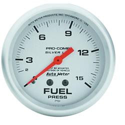 ATM-4611-AutoMeter Pro-Comp Silver Face Gauges