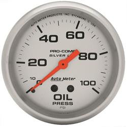 ATM-4621-AutoMeter Pro-Comp Silver Face Gauges