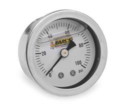 EAR-100187ERL-Earl's Performance Analog Fuel Pressure Gauge 100psi OIL
