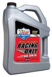 LUC-10378-1  Lucas Racing Only High Performance Motor Oil 20W-50