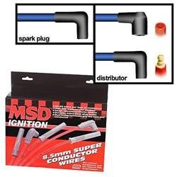 MSD-31233-MSD 8.5mm Super Conductor Spark Plug Wire Sets